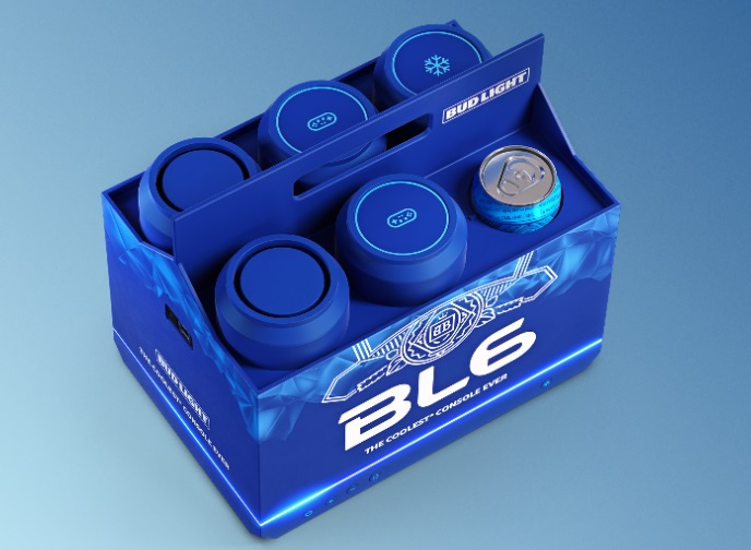 Bud Light cria console de game que funciona como cooler