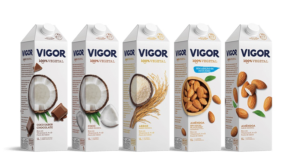 Vigor entra no mercado plant based com leites vegetais