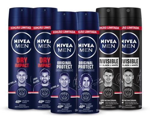 Nivea leva jogadores do PSG para embalagens de desodorantes