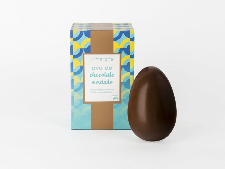 Ovo de chocolate mesclado St Marche