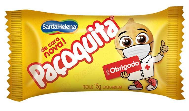 Embalagem de Paçoquita em homenagem aos profissionais de saúde