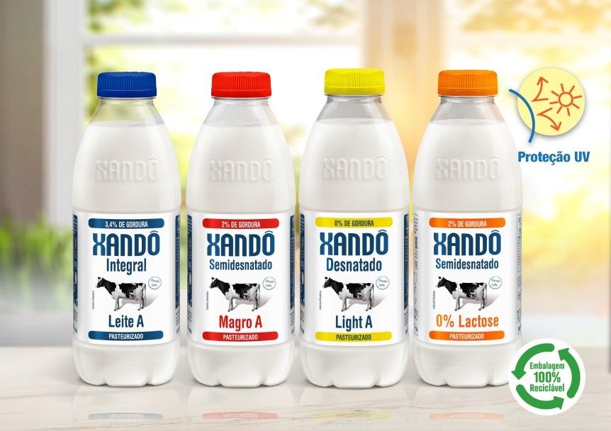Nova embalagem leite Xandô