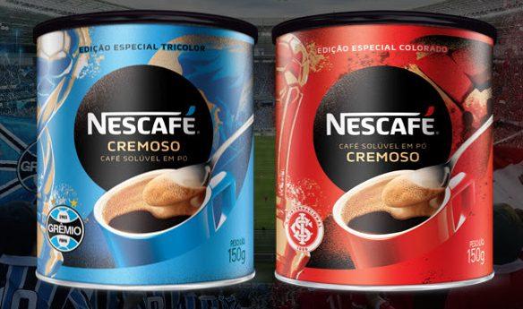Clássico Grenal vai para latas de Nescafé