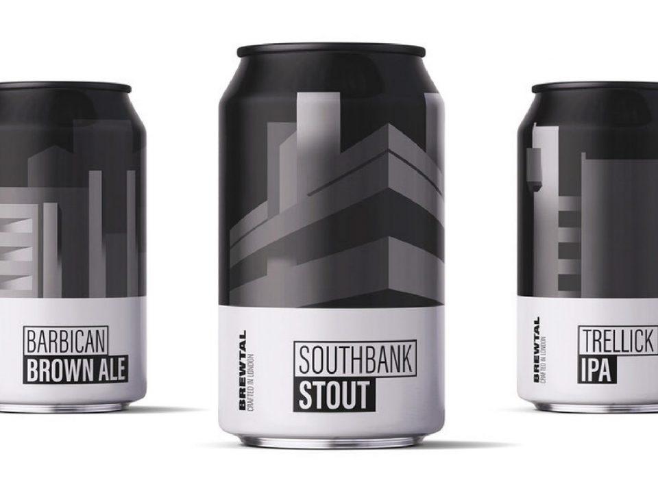 Série de latas de cerveja homenageia ícones da arquitetura de Londres