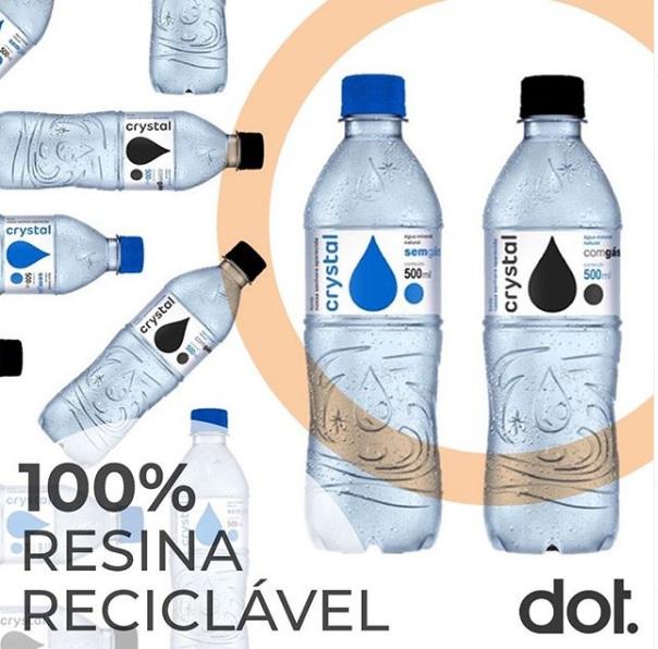 Com garrafa de PET reciclado, Crystal tira 400 milhões de embalagens do mercado