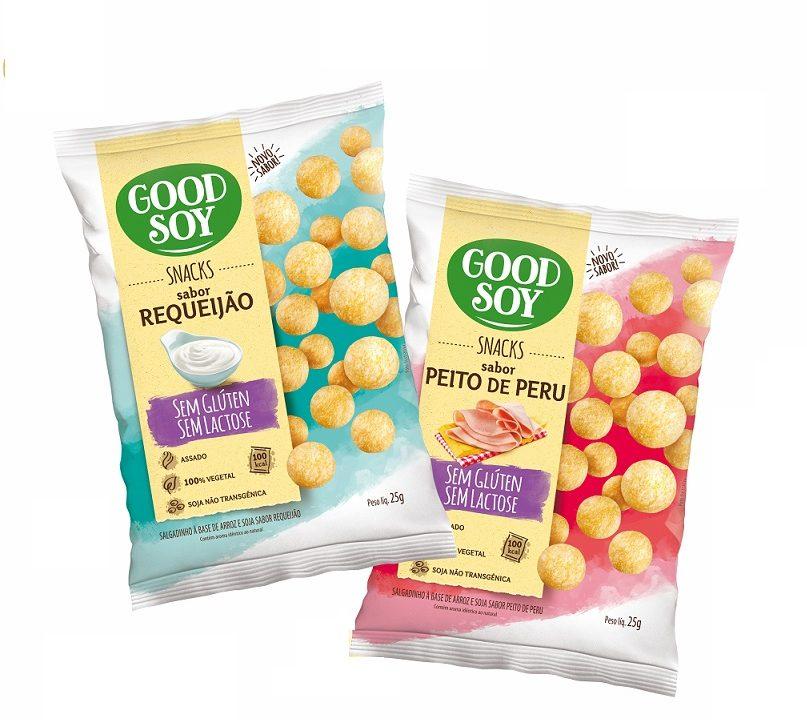 GoodSoy ganha dois novos sabores de snacks
