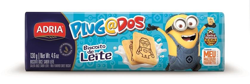 Adria amplia linha Plugados com biscoito sabor Leite