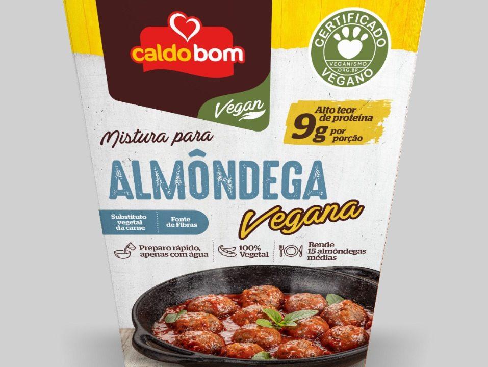 Caldo Bom lança linha vegan com mistura para hambúrguer, almôndega e quibe