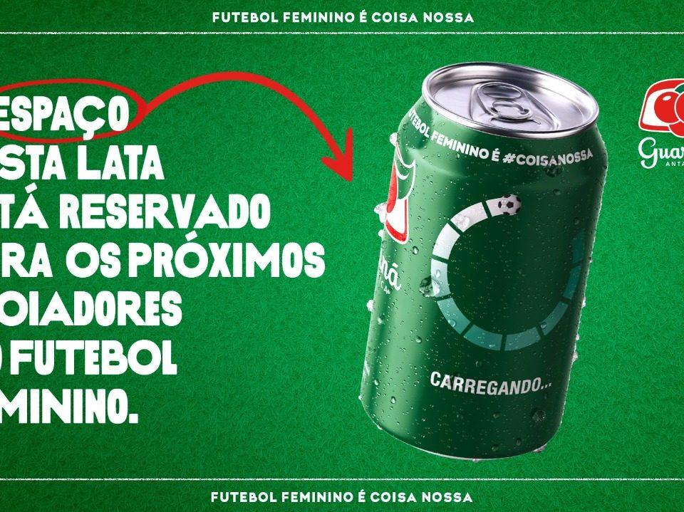 Guaraná Antarctica vai ceder espaço nas latas para marcas que apoiarem futebol feminino