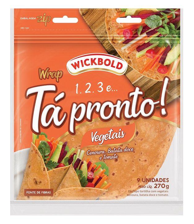 Wickbold lança wrap com vegetais na formulação
