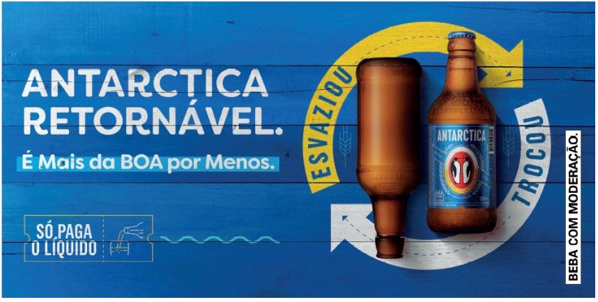 Cerveja Antarctica faz campanha para estimular uso de garrafas retornáveis