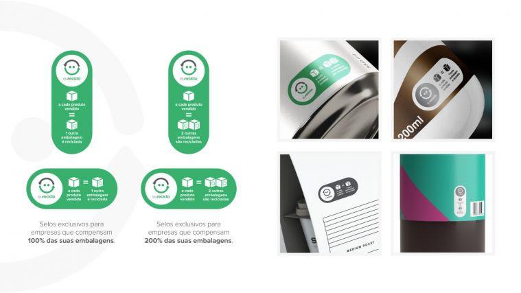 Eureciclo lança selos que mostram quantidade de embalagens recicladas