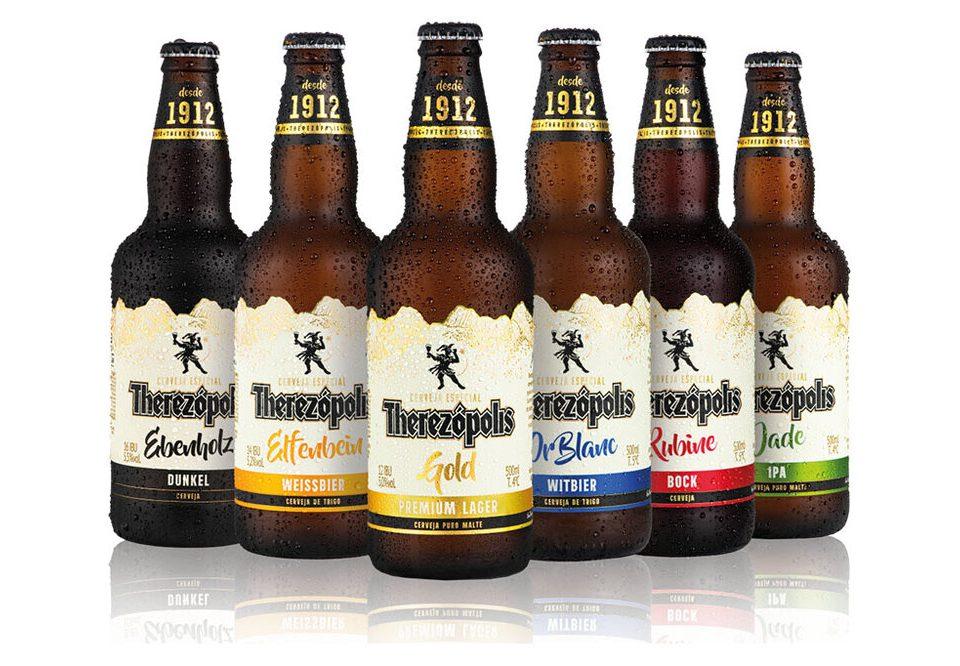 Cerveja Therezópolis ganha novos rótulos e novas garrafas
