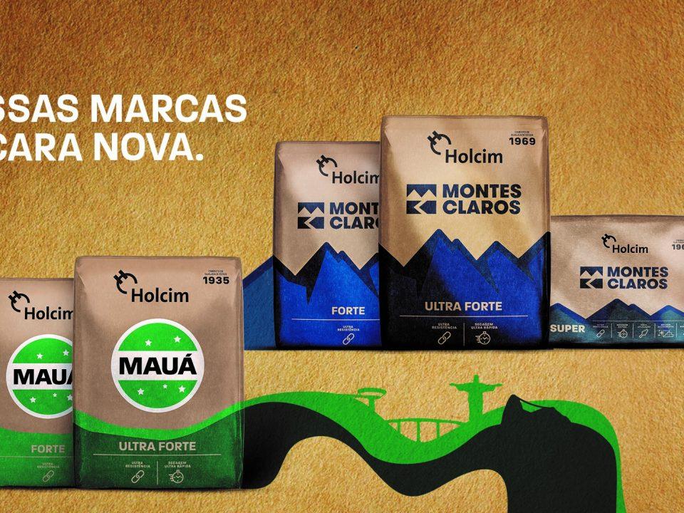 Cimentos Mauá e Montes Claros têm as embalagens redesenhadas