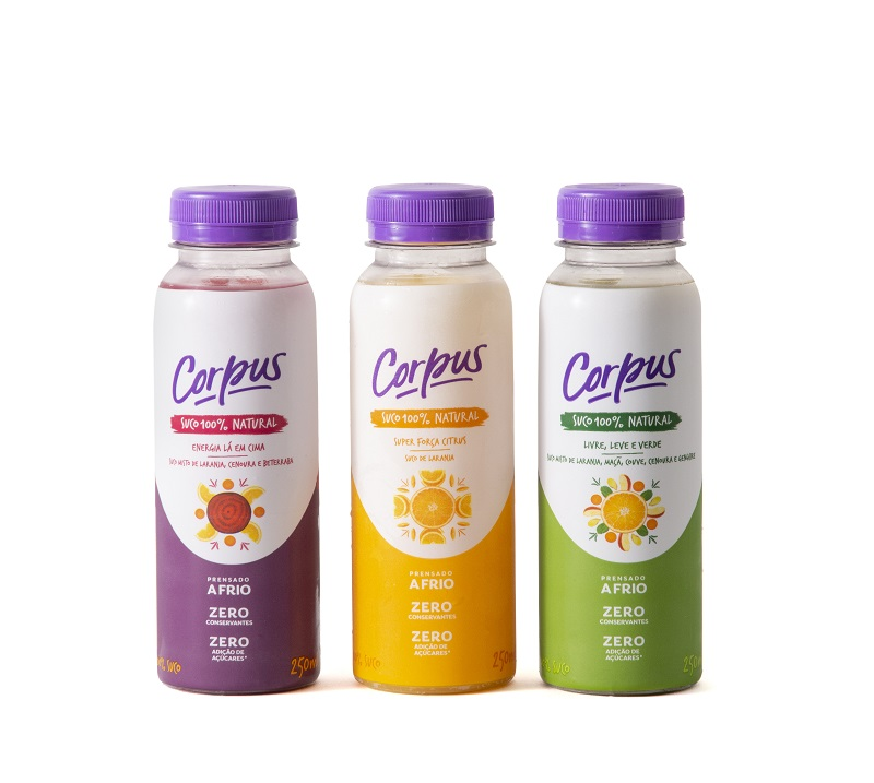 Corpus lança linha de sucos naturais em parceria com Greenpeople