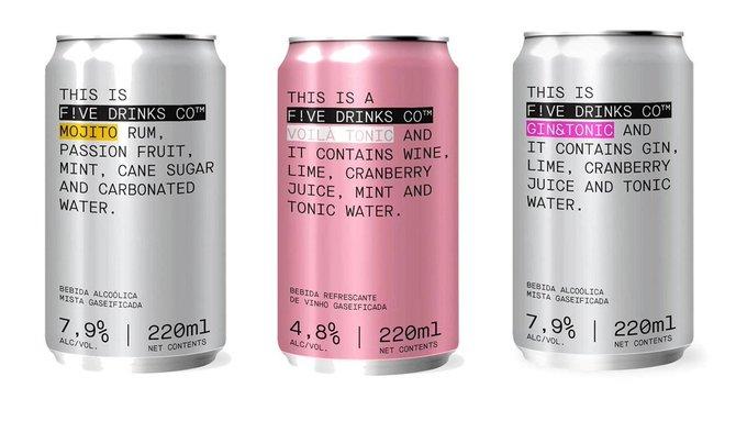 F!ve Drinks traz coquetéis em lata para o Brasil