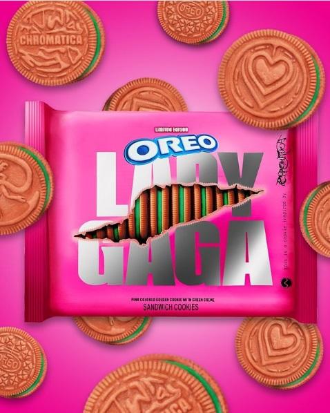 Lady Gaga lança biscoitos do álbum Chromatica em parceria com Oreo