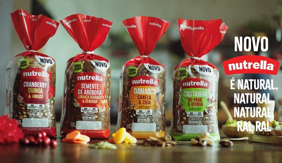 Nutrella lança nova linha de pães com grãos