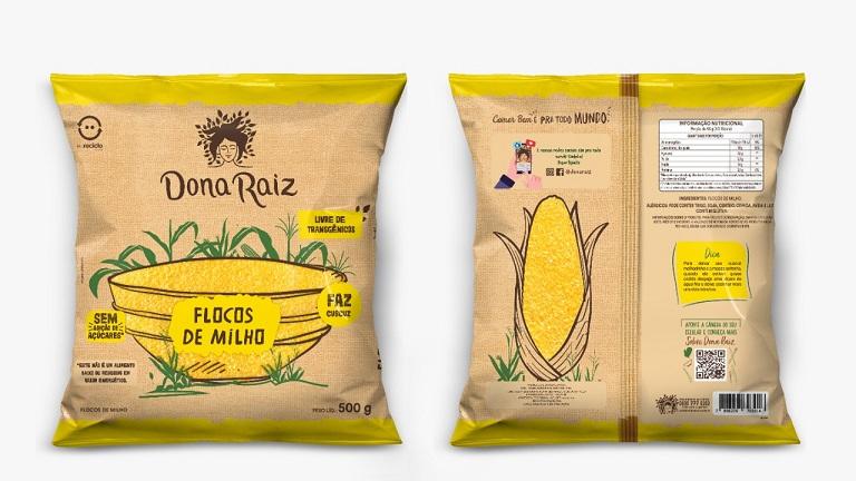 Dona Raiz lança flocos de milho em embalagens flexíveis