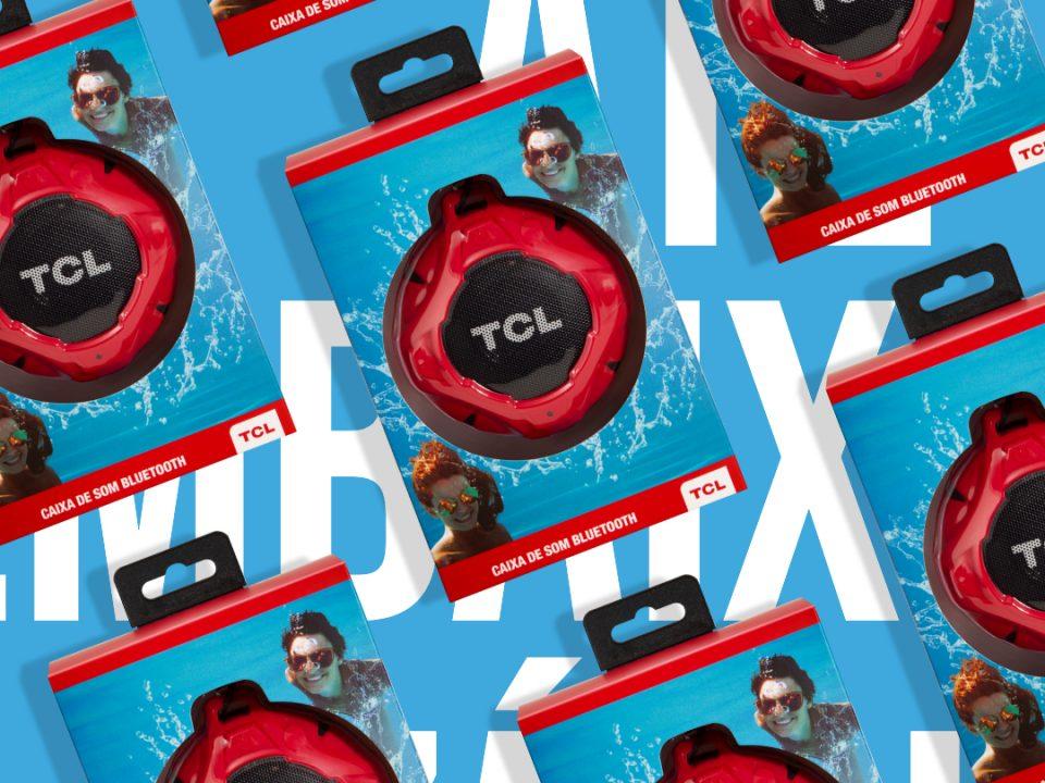 Embalagem de caixa de som da Semp TCL destaca o produto