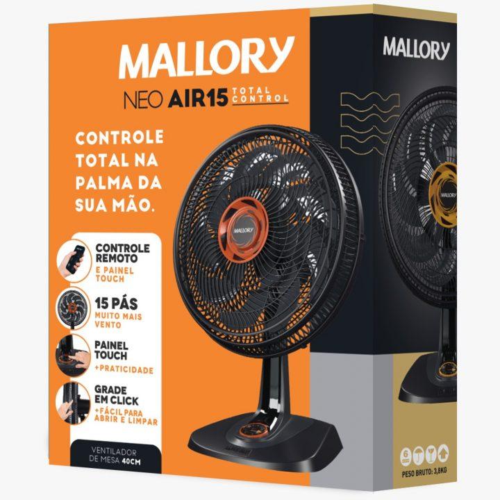 Mallory aposta em cores no design das embalagens de ventiladores