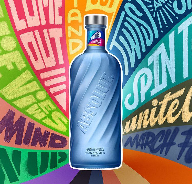 Absolut Vodka tem edição limitada de garrafas foscas