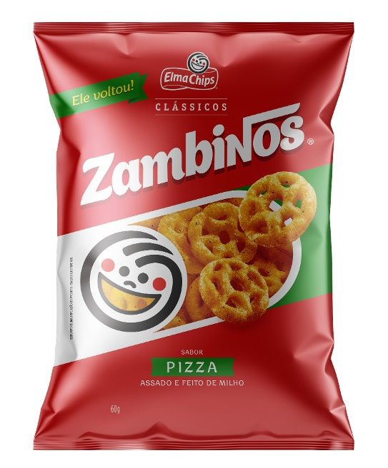 Elma Chips relança salgadinho Zambinos