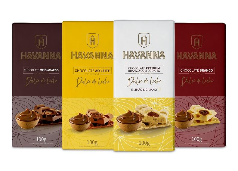 Havanna moderniza linha de tabletes de chocolates recheados