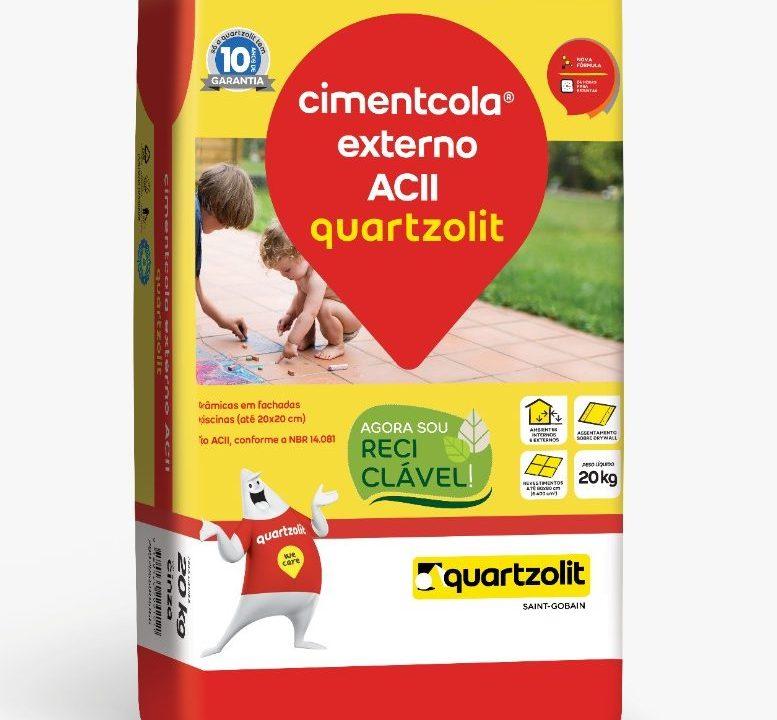 Quartzolit adota embalagem reciclável de argamassa