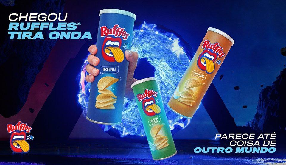 Ruffles tem novos sabores em embalagens tubo