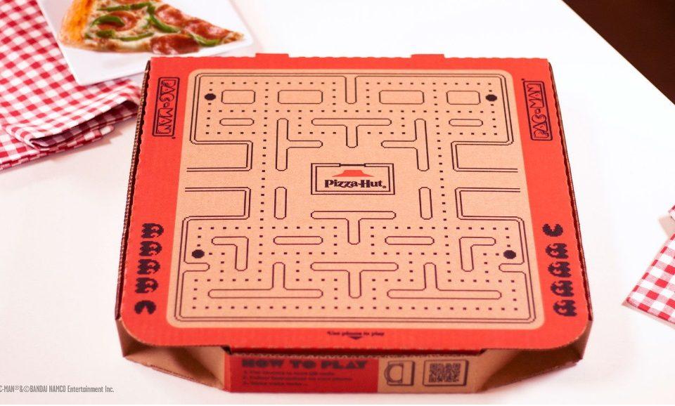 Com realidade aumentada, caixas da Pizza Hut trazem jogo Pac-Man