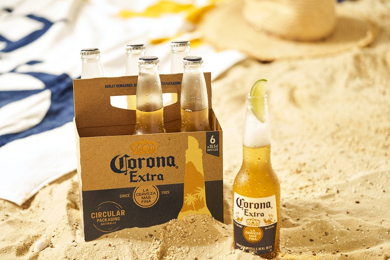 Corona desenvolve embalagem sustentável feita de cevada