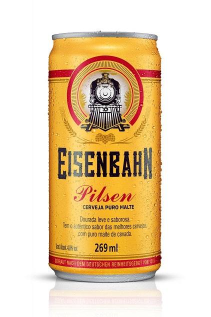 Eisenbahn leva cerveja pilsen para lata de 269ml