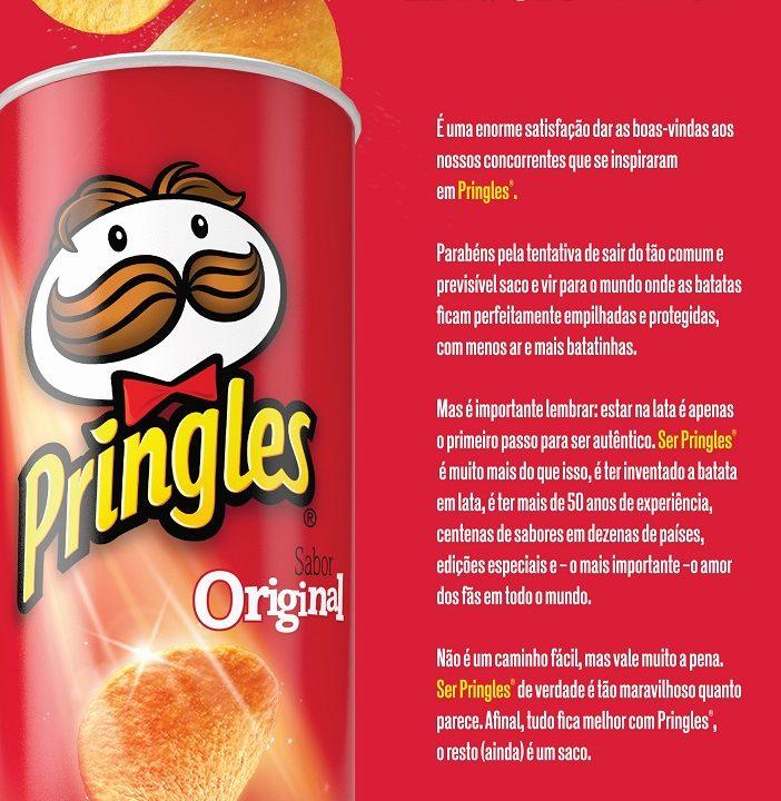 Em anúncio, Pringles alfineta nova embalagem de Ruffles