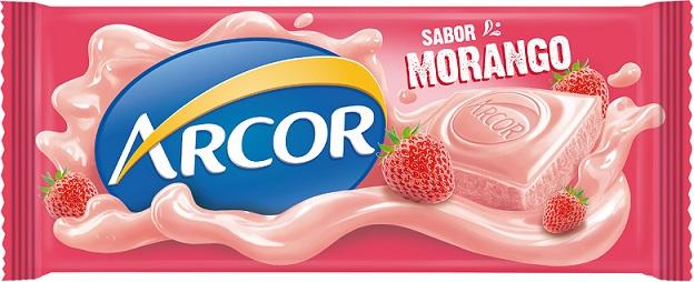 Arcor lança tablete de chocolate branco com morango