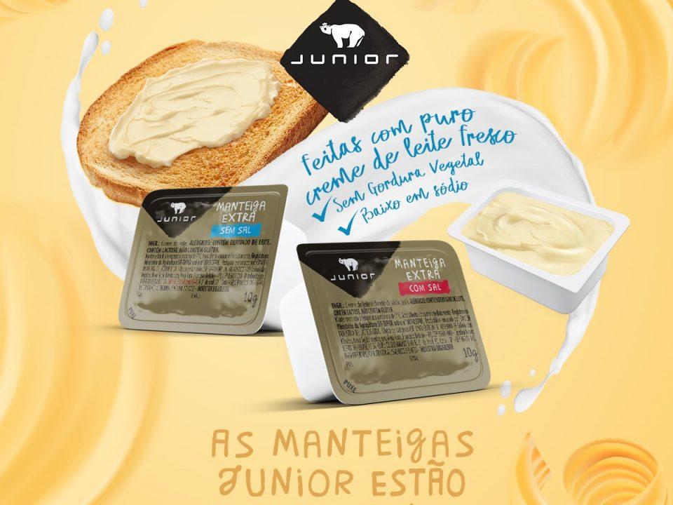 Junior relança manteigas para o food service