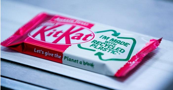 Nestlé apresenta embalagem flexível de KitKat produzida com material reciclado