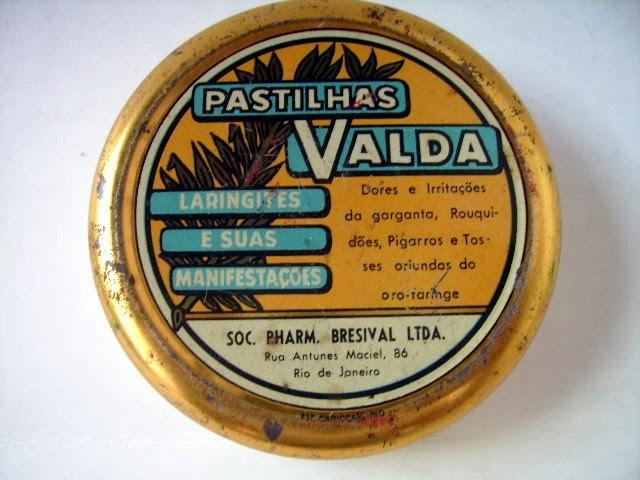 Pastilhas Valda e as embalagens redondas