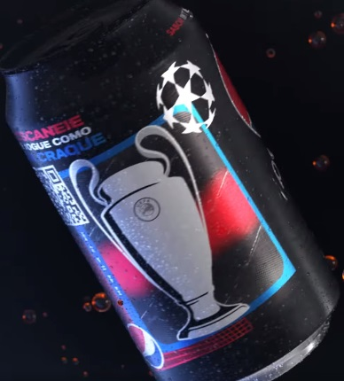 Pepsi Black tem lata comemorativa da UEFA Champions League