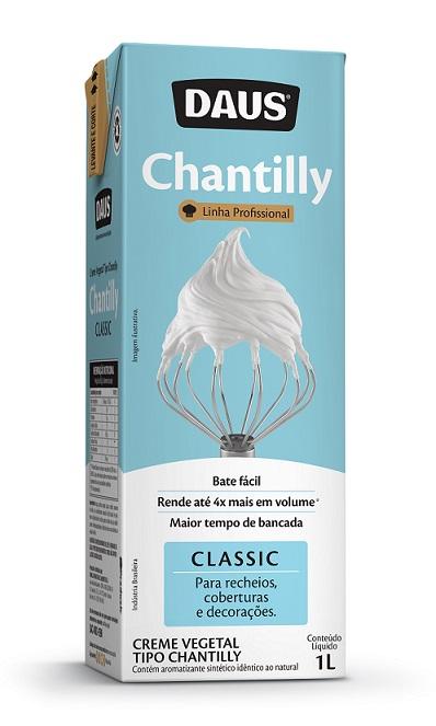 Daus lança novo Chantilly com maior tempo de bancada