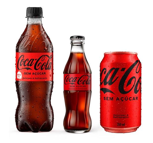 Nova Coca-Cola Sem Açúcar estreia no Brasil com o novo visual da marca