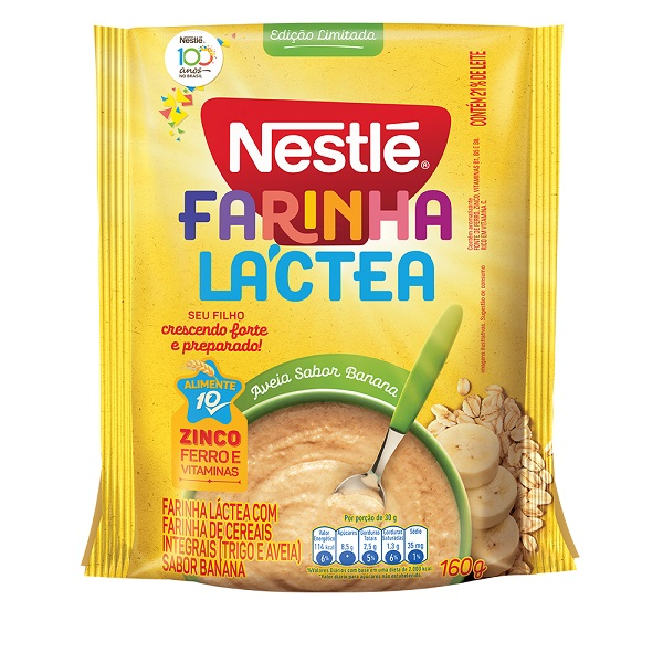 Farinha Láctea Nestlé ganha edição limitada sabor banana