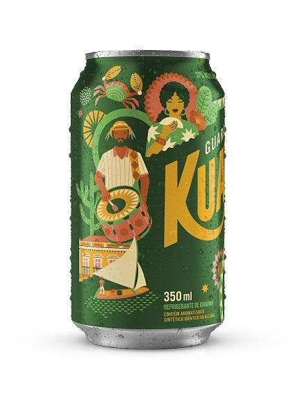 Guaraná Kuat faz campanha com latas temáticas