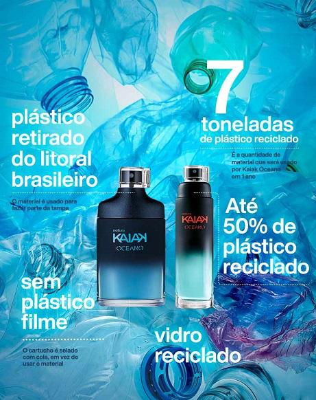 Natura prevê reciclar 7 toneladas de plástico em um ano com embalagens de Kaiak Oceano