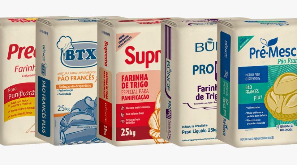 Bunge adota embalagens de papel para farinha de trigo de 25 quilos