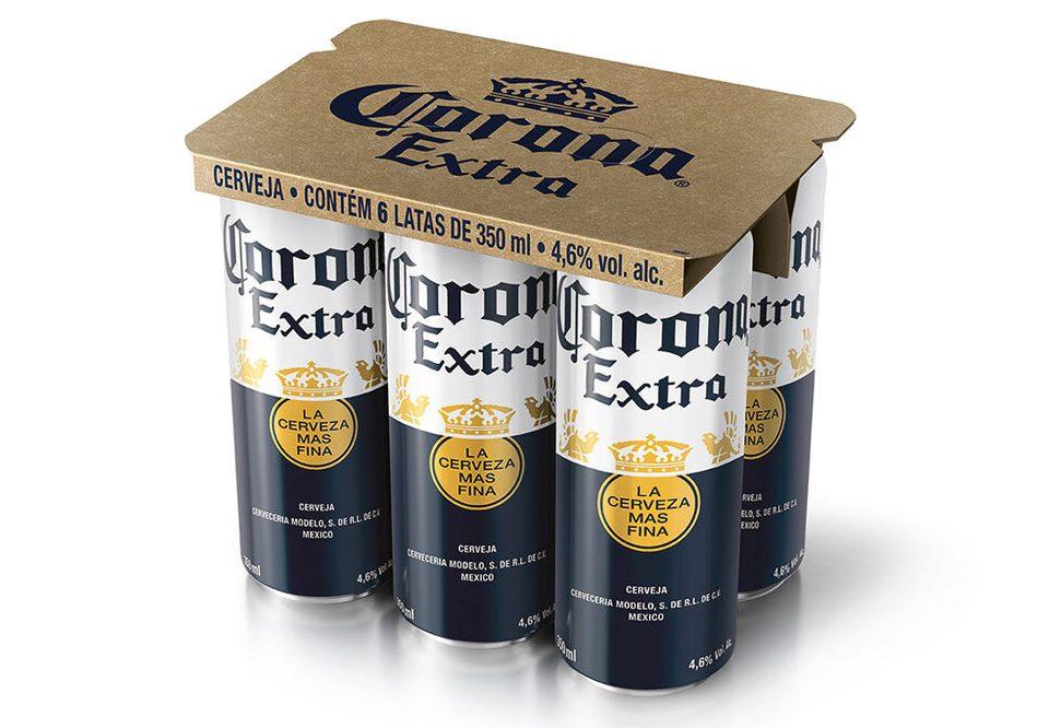 Corona estreia em latas com six pack inédito no Brasil