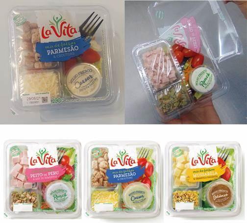 Salada La Vita ganha embalagem com filme selável de fácil abertura