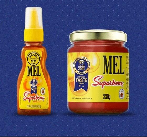 Superbom repagina embalagens de mel