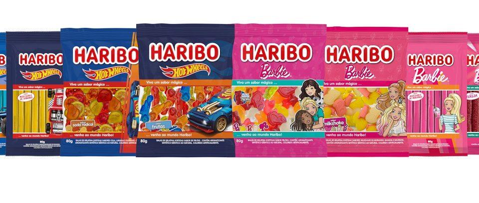 Haribo lança produtos inspirados em Barbie e Hot Wheels